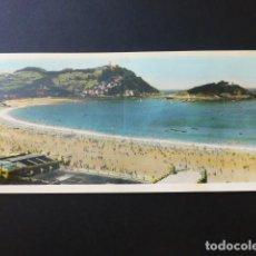 Postales: SAN SEBASTIAN BALNEARIO DE LA PERLA DEL OCEANO POSTAL DOBLE. Lote 164695186