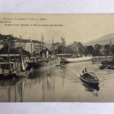Postales: POSTAL LANDABURU HERMANAS 1099. MUELLE DEL ARENAL Y CALLE VIUDA EPALZA. BILBAO. VIZCAYA.. Lote 164834986