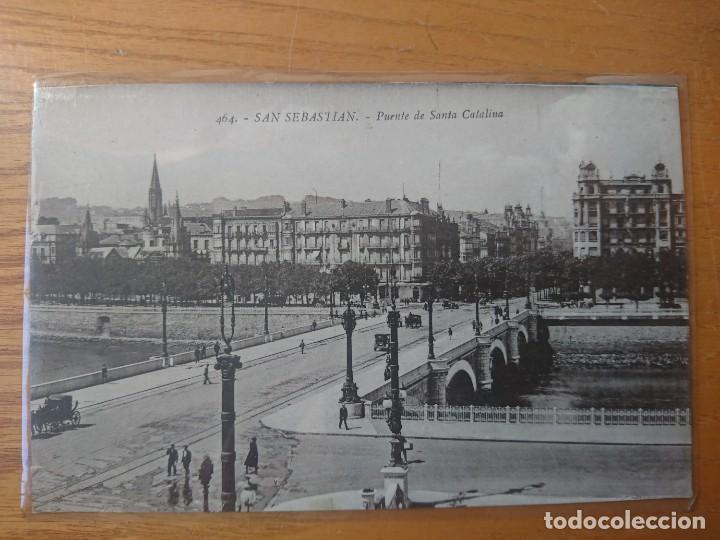 PUENTE DE SANTA CATALINA SAN SEBASTIÁN (Postales - España - Pais Vasco Antigua (hasta 1939))