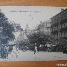 Postales: AVENIDA DE LA LIBERTAD SAN SEBASTIÁN . Lote 165165366