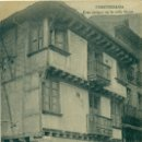 Postales: FUENTERRABÍA CASA ANTIGUA EN LA CALLE MAYOR. HACIA 1905.MUY RARA.. Lote 165374058