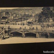 Postales: BILBAO PUENTE Y MUELLES DEL ARENAL. Lote 165394950