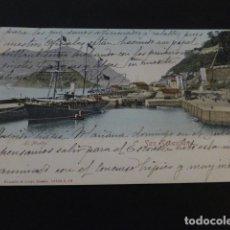 Postales: SAN SEBASTIAN EL MUELLE. Lote 165445462