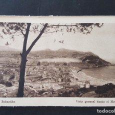 Postales: SAN SEBASTIAN VISTA GENERAL DESDE EL MONTE ULIA. Lote 165652310