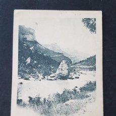 Postales: BAÑOS DE SOBRON ALAVA MIRANDA DE EBRO BURGOS LA PEÑA DERRUMBADA HAUSER Y MENET . Lote 165662866