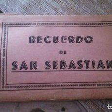 Postales: RECUERDO SAN SEBASTIAN 10 POSTALES, FOTOS GALARZA. Lote 165743278