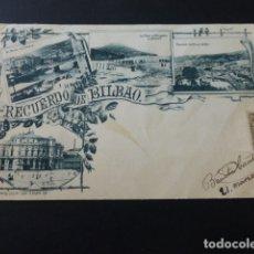 Postales: BILBAO RECUERDO DE BILBAO EDICION LANDABURU HERMANAS 1902. Lote 165789746