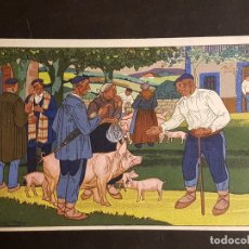 Postales: POSTALES VASCAS DIBUJOS JOSE ARRUE ED LABORDE LABAYEN TOLOSA PUBLICIDAD RESTAURANT FRONTON JAI ALAI. Lote 165922822
