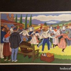 Postales: POSTALES VASCAS DIBUJOS JOSE ARRUE ED LABORDE LABAYEN TOLOSA PUBLICIDAD RESTAURANT FRONTON JAI ALAI. Lote 165922846
