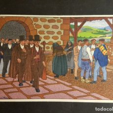 Postales: POSTALES VASCAS DIBUJOS JOSE ARRUE ED LABORDE LABAYEN TOLOSA PUBLICIDAD RESTAURANT FRONTON JAI ALAI. Lote 165922874