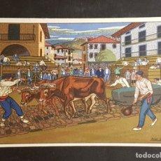 Postales: POSTALES VASCAS DIBUJOS JOSE ARRUE ED LABORDE LABAYEN TOLOSA PUBLICIDAD RESTAURANT FRONTON JAI ALAI. Lote 165922906