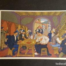 Postales: POSTALES VASCAS DIBUJOS JOSE ARRUE ED LABORDE LABAYEN TOLOSA PUBLICIDAD RESTAURANT FRONTON JAI ALAI. Lote 165922962
