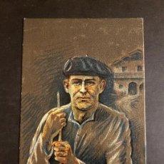 Postales: AMEZQUETA TIPOS PAIS VASCO OÑATIVIA ED LABORDE LABAYEN TOLOSA PUBLICIDAD RESTAURANT FRONTON JAI ALAI. Lote 165923030