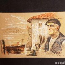 Postales: PASAJES S JUAN PAIS VASCO OÑATIVIA ED LABORDE LABAYEN TOLOSA PUBLICIDAD RESTAURANT FRONTON JAI ALAI. Lote 165923158