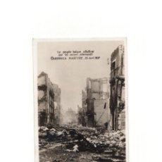 Postales: GUERNICA.- GUERRA CIVIL BOMBARDEO RUINAS MARTIRIO DE GUERNICA PAIS VASCO.ED FRANCESA BILBAO 1937. Lote 165944650