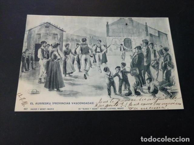 PAIS VASCO EL AURRESKU (Postales - España - Pais Vasco Antigua (hasta 1939))