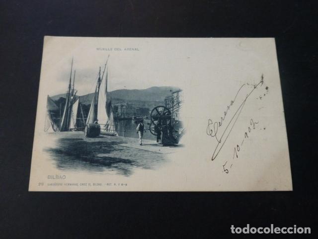 BILBAO MUELLE DEL ARENAL LANDABURU HERMANAS (Postales - España - Pais Vasco Antigua (hasta 1939))