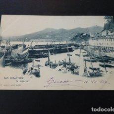 Postales: SAN SEBASTIAN EL MUELLE. Lote 165955334