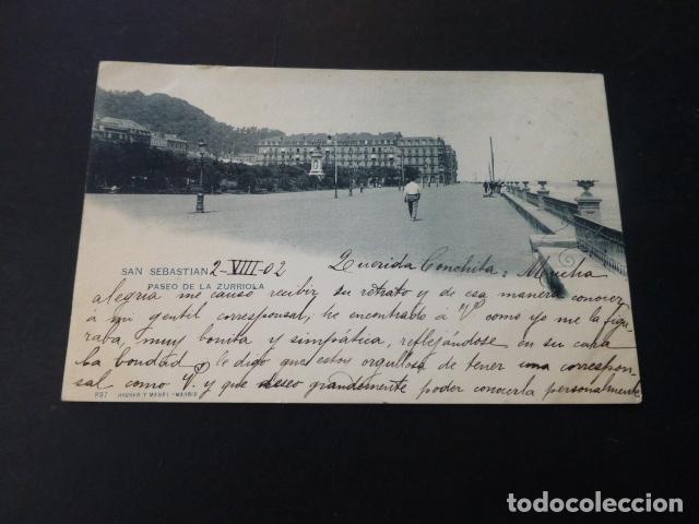 SAN SEBASTIAN PASEO DE LA ZURRIOLA (Postales - España - Pais Vasco Antigua (hasta 1939))