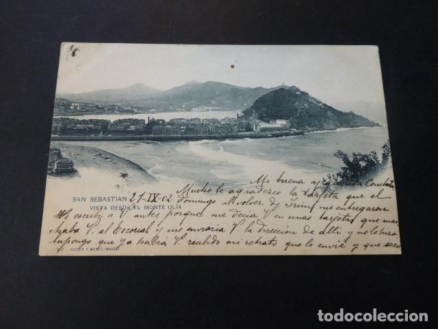 SAN SEBASTIAN VISTA DESDE EL MONTE ULIA (Postales - España - Pais Vasco Antigua (hasta 1939))