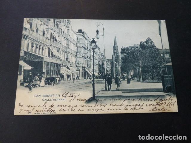 SAN SEBASTIAN CALLE HERNANI (Postales - España - Pais Vasco Antigua (hasta 1939))