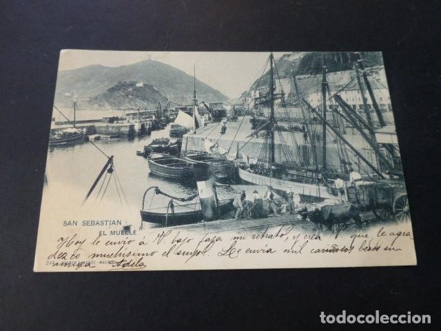 SAN SEBASTIAN EL MUELLE (Postales - España - Pais Vasco Antigua (hasta 1939))