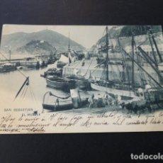 Postales: SAN SEBASTIAN EL MUELLE. Lote 165955698