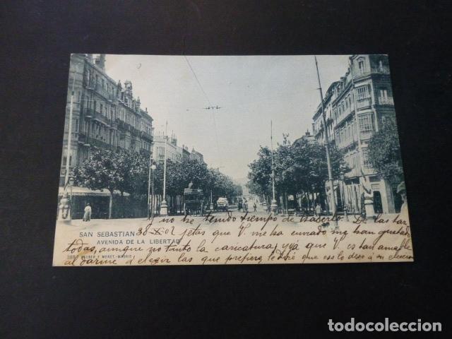 SAN SEBASTIAN AVENIDA DE LA LIBERTAD (Postales - España - Pais Vasco Antigua (hasta 1939))
