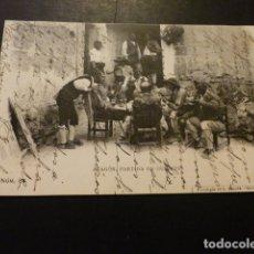 Postales: ARAGON PARTIDA DE GUIÑOTE FOTOTIPIA DE L. ESCOLA REVERSO SIN DIVIDIR . Lote 166015022