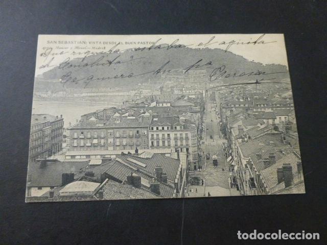 SAN SEBASTIAN VISTA DESDE EL BUEN PASTOR (Postales - España - Pais Vasco Antigua (hasta 1939))