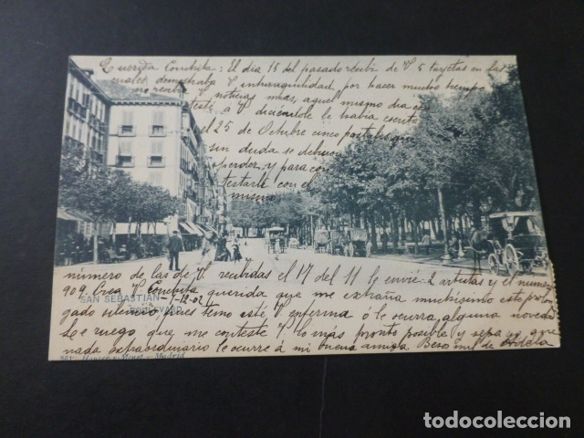 SAN SEBASTIAN BOULEVARD (Postales - España - Pais Vasco Antigua (hasta 1939))