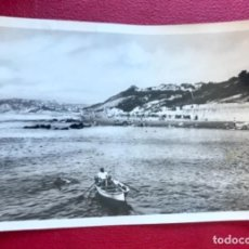 Postales: FOTOGRAFICA GUETHARY GUETARIA COSTA VASCA LA PLAYA BEDART Y BIARRITZ LA BOUCHE REAL PHOTO CAP. Lote 166264486