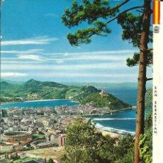 Cartes Postales: POSTAL SAN SEBASTIAN, VISTA DESDE EL MONTE ULÍA - MANIPEL 1966. Lote 166325990