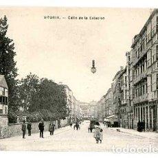 Postales: VITORIA CALLE DE LA ESTACION ED. E.J.G. SIN CIRCULAR. Lote 166929532