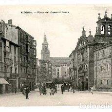 Postales: VITORIA PLAZA DEL GENERAL LOMA ED. E.J.G. SIN CIRCULAR. Lote 166929616