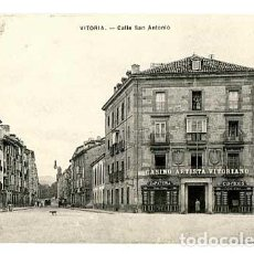 Postales: VITORIA CALLE SAN ANTONIO ED. E.J.G. SIN CIRCULAR. Lote 166929712