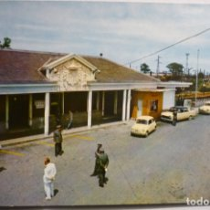 Postales: POSTAL IRUN - LA ADUANA -PUENTE INTERNACIONAL- COCHES SEAT. Lote 167481496