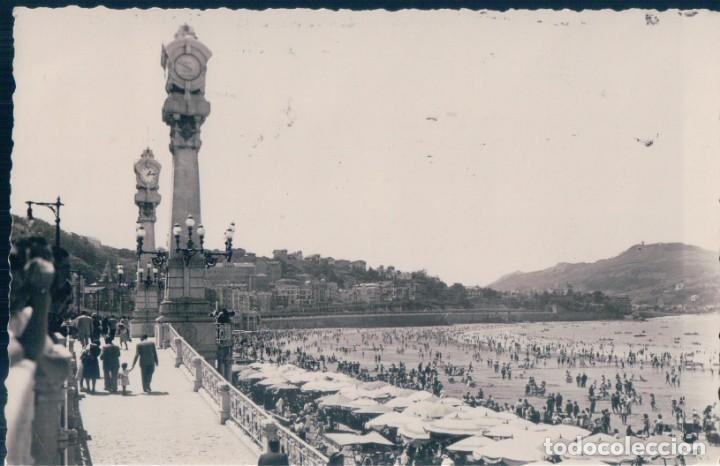 POSTAL SAN SEBASTIAN - LA PLAYA - ARRIBAS 116 - CIRCULADA (Postales - España - Pais Vasco Antigua (hasta 1939))
