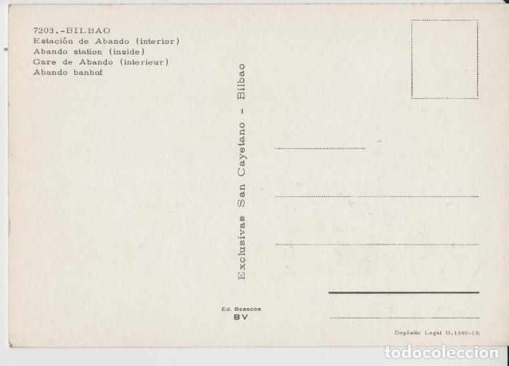 Postales: POSTALES POSTAL BILBAO ESTACION AÑOS 60 PAIS VASCO - Foto 2 - 168591580
