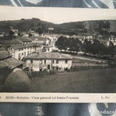 Postales: ANTIGUA POSTAL IRÚN BEHOBIA VISTA GENERAL AL FONDO FRANCIA NUM 9 ROISIN. Lote 168922012
