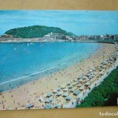 Postales: SAN SEBASTIAN (GUIPUZCOA) - PLAYA DE LA CONCHA (ESCRITA Y CIRCULADA). Lote 169080900