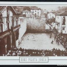 Postales: 1991. POSTAL. JUEGOS Y DEPORTES VASCOS. PELOTA A MANO EN ELGOIBAR (1930). EJEMPLAR DE GRAN CALIDAD. . Lote 169434484