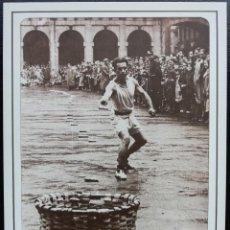 Postales: 1991. POSTAL. JUEGOS Y DEPORTES VASCOS. LANZAMIENTO MAZORCAS AL CESTO (1948). EJEMPLAR GRAN CALIDAD.. Lote 169438728