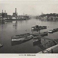 Postales: X121523 PAIS VASCO VIZCAYA BILBAO LA RIA EN BARACALDO. Lote 169439448