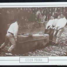 Postales: 1991. POSTAL. JUEGOS Y DEPORTES VASCOS. ARRASTRE DE PIEDRA POR HOMBRES (1914). EJEMPLAR GRAN CALIDAD. Lote 169442684