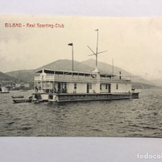 Postales: BILBAO. POSTAL REAL SPORTING CLUB. EDITA: LIBRERÍA ELCANO (H.1930?) NO CIRCULADA... Lote 170130268