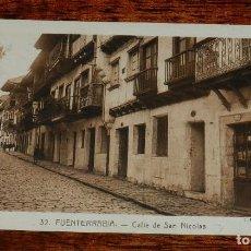Postales: POSTAL DE FUENTERRABIA, N.32, CALLE DE SAN NICOLAS, ED. L. ROISIN, NO CIRCULADA.. Lote 170184968