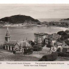 Postales: POSTAL DE SAN SEBASTIAN - VISTA PARCIAL DESDE ALDAPETA. Lote 170252664