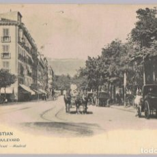 Postales: POSTAL SAN SEBASTIAN BOULEVARD . Lote 171412522