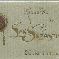 Postales: C1.- RECUERDO DE SAN SEBASTIAN 20 VISTAS ARTISTICAS -GREGORIO G.GALARZA FOTO EDITOR SAN SEBASTIAN. Lote 171473072